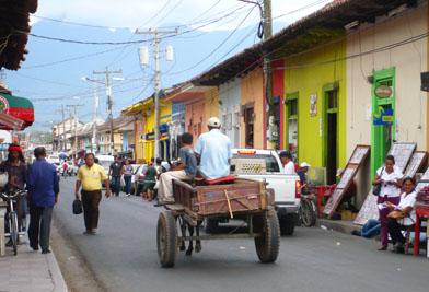 Rural street scene, Nicaragua