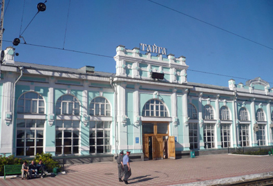 A random Russian train station. Mostly deserted.