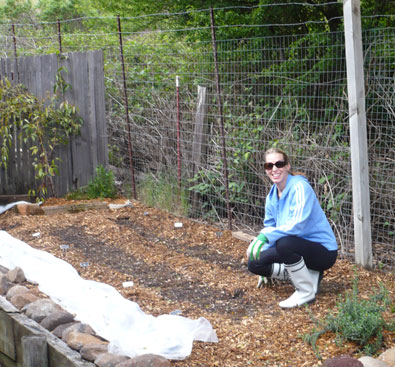Me and my neat & tidy rows of dirt.