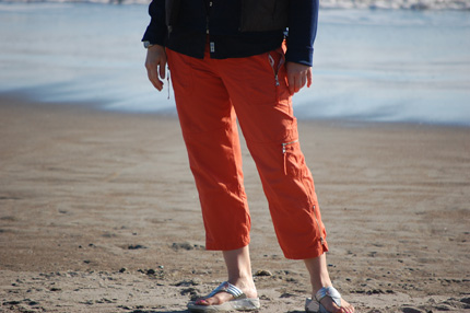 The traveling orange pants