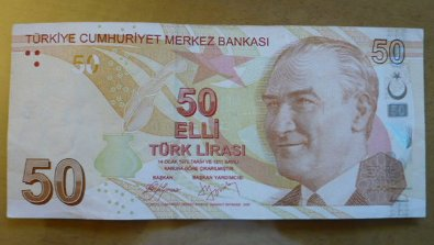 Not just the 50 lira, but the 100, 20, 10 and 5 lira notes too.