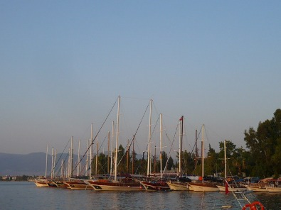 Sunset at Fethiye harbor