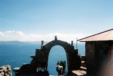 View from Isla Taquile, Lake Titicaca