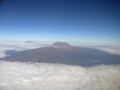Such a beautiful sight! Kili at 20,000 ft.