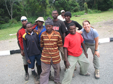 Sue, aka 911, with our porters
