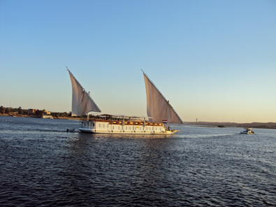 Falucca sailing the Nile