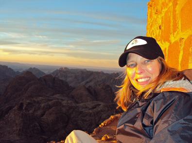 Soaking it in on the summit of Mt. Sinai