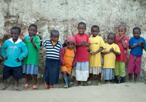 A Line of Little Angels, Lake Bunyonyi, Uganda