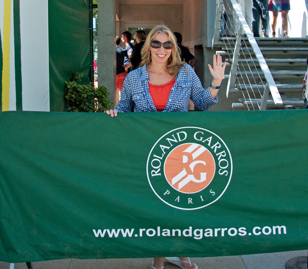 At the French Open, photo by GoErinGo