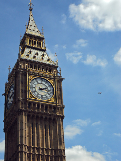 Big Ben (with tiny plane)