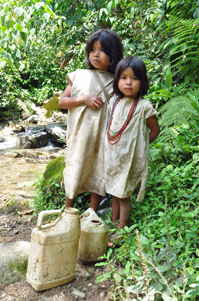 Children of the Kogi tribe, trek to Colombia's Ciudad Perdida (The Lost City)