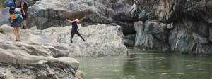 Erin Jumping Rio Cangrejal