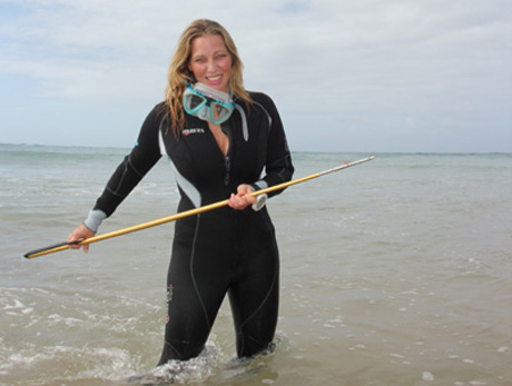 Erin volunteers with the Marine Megafauna Foundation in Tofo, Mozambique