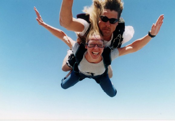 Erin Parachuting in South Africa photo by GoErinGo
