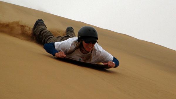 Erin Sand Sledding