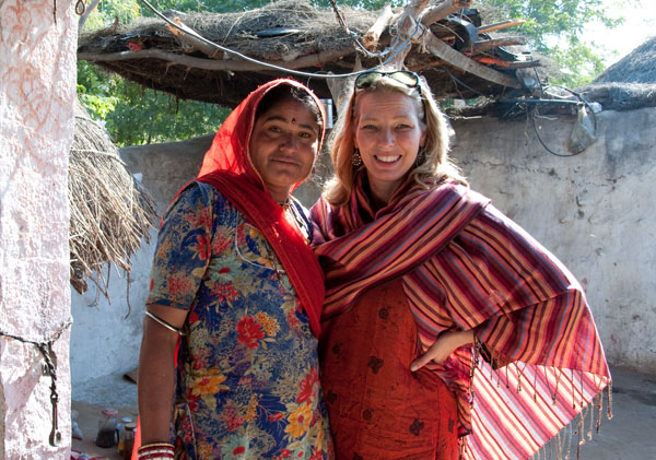 Erin & Friend from a rural village in Rajasthan, India