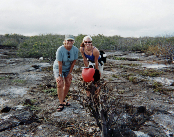 Erin and Sam in Galapago Islands, photo by GoErinGo