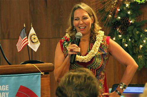 Erin at Honolulu Rotary Lunch