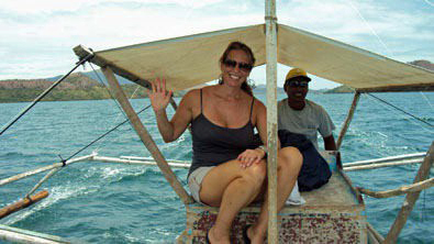 Erin heading to Culion via tiny boat