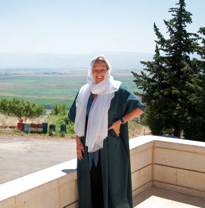 Erin in Druze Dress