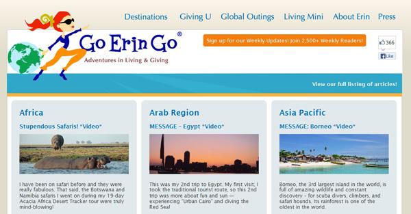 Go Erin Go Destinations Screen Shot