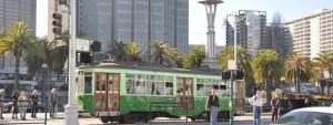 Green tram San Francisco, photo by GoErinGo