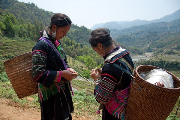 Hmong Girls, Sapa Vietnam, photo by GoErinGo