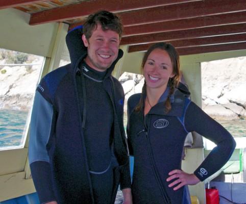 Julie and her husband Josh, Bolivia