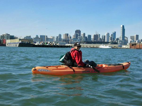Kayaking the San Francisco Bay with good friends!