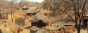 A rural village in Malawi.