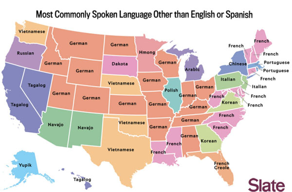 Map of US Languages