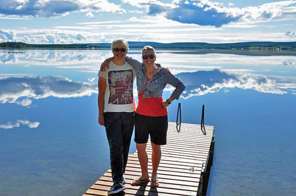 Me and Pirjo, Finnish Lapland