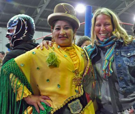 Me and World Cholita Champion