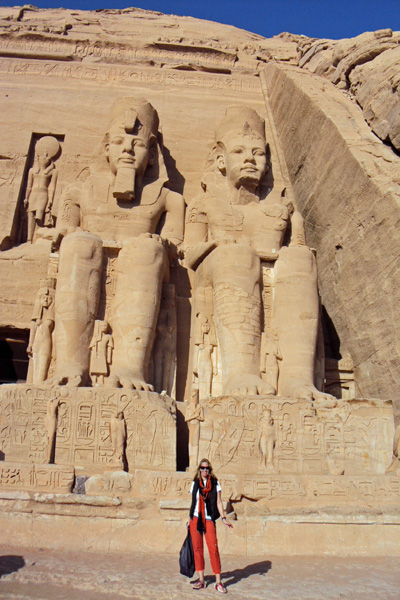 Erin at Abu Simbel, in Eygpt near the Sudan border