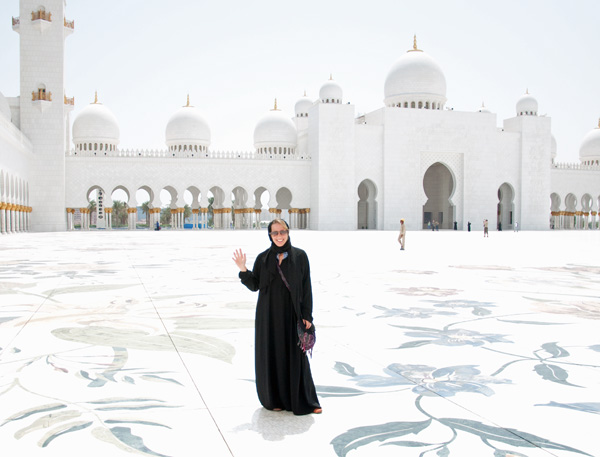 Outside Sheikh Zayed Mosque