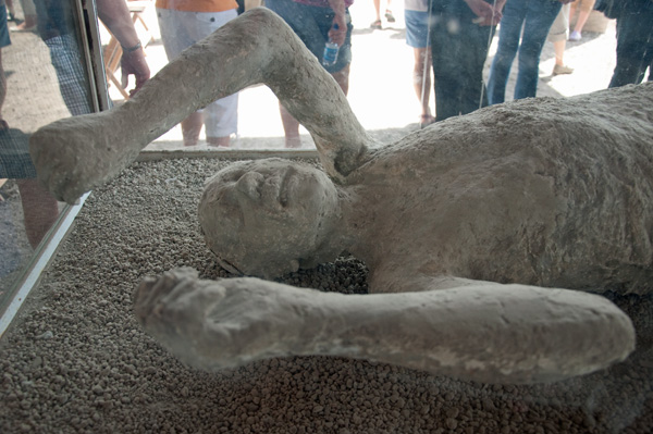 One of the fallen at Pompeii.