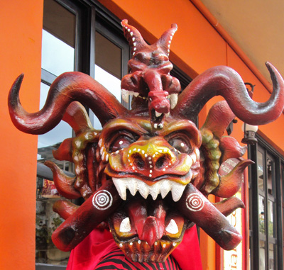 Red Devil as seen in Panama City's Old Town