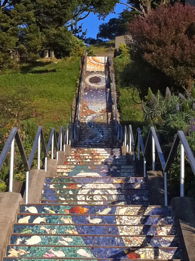 16th Ave. Mosaic Steps, San Francisco's Sunset neiighborhood