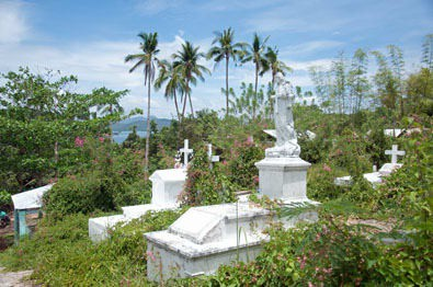 "Sano (or ""clean"") cemetery on Culion"