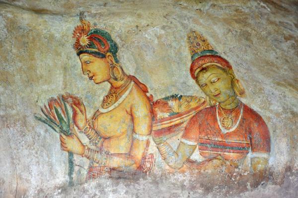 Sigiriya-Fresco-Duo photo by GoErinGo