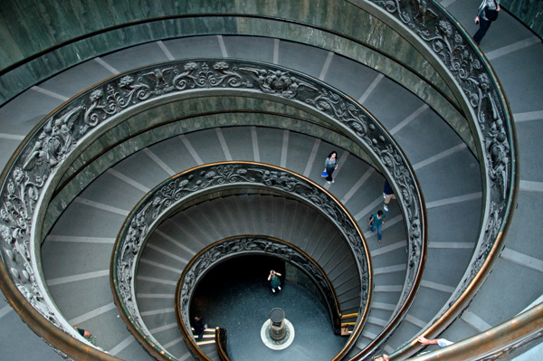 Sprial Stairs Vatican, photo by GoErinGo