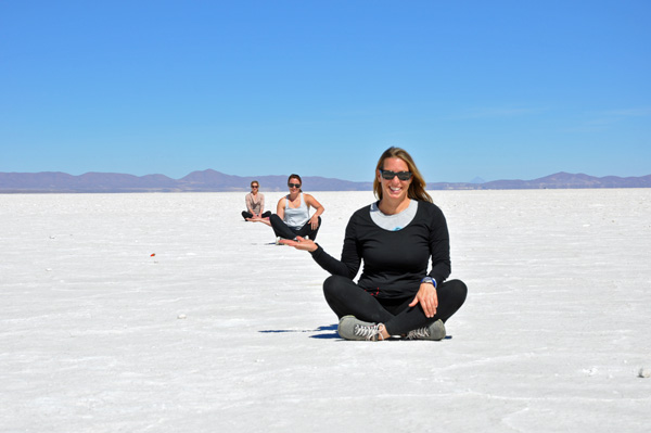 Triple Fun in the Salar de Uyuni, photo by GoErinGo
