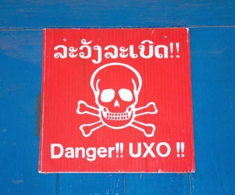 UXO Signage, Laos