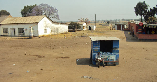 Rural bus station, Zambia