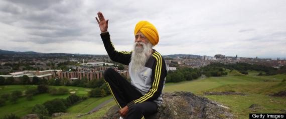 The World's Oldest Marathon Runner Fauja Singh Prepares Ahead Of The Edinburgh Marathon