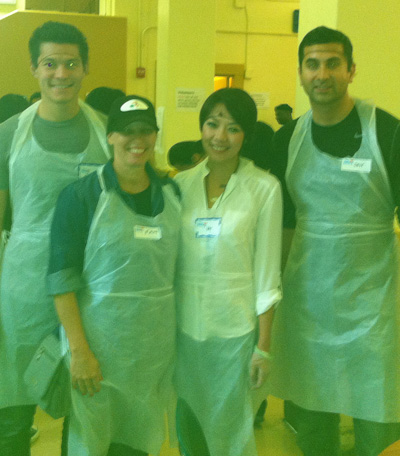volunteering at glide, photo by GoErinGo